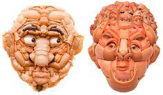 Lindas Toy Sculptures de Freya Jobbins, feitas com pedaços de bonecas (e bonecos).