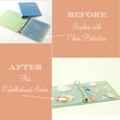 Creative Craft Storage Binders with Clear Protectors
