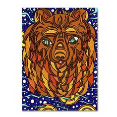 Trademark Art 'Bailey the Bear Alive' by Kathy G. Ahrens Graphic Art on Wrapped Canvas Size: