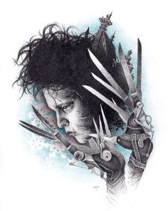 artFido | fetching art | Edward Scissorhands graphite and color pencil drawing | 2736651839