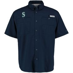 Seattle Mariners Columbia Tamiami Button-Down Shirt - Navy