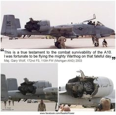 Nothing can bring down a #USAF #A-10 #Warthog. Again from: www.facebook.com/RealAirPower