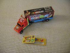 M&M's candy dispenser Nascar KYLE BUSCH advertisement Semi Truck Hauler mms M&Ms