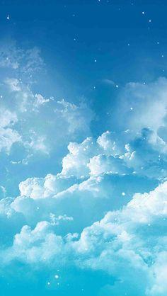 Wallpaper Iphone Pastell, Clouds Wallpaper Iphone, Baby Blue Wallpaper, Cloud Wallpaper, Anime Scenery Wallpaper, Cute Wallpaper Backgrounds, Galaxy Wallpaper, Blue Backgrounds, Weather Wallpaper