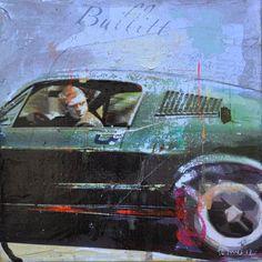 The original Bullitt Ford Mustang Gt, Mustang Bullitt, Steve Mcqueen, Dodge Charger, 1965 Buick Riviera, Ford Motorsport, Cafe Racer Magazine, Car Illustration, Illustrations