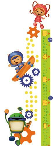 Join team Umizoomi and make measuring fun! Your little one can work together with their friends Milli, Geo and Bot to keep track of their growth. Application is easy: just peel each pre-cut element from the sheet and stick it to the wall. The growth chart is easily assembled from multiple pieces and every sticker can be removed and repositioned at any time. A great companion to the Umizoomi wall decals!.