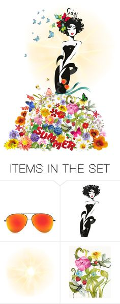 """BELLE SUMMER"" by edita1 ❤ liked on Polyvore featuring art"