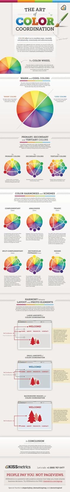 Follow this link to see different colour schemes created using a traditional colour wheel.