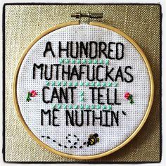 Hahaha I love this potty mouth cross stitch