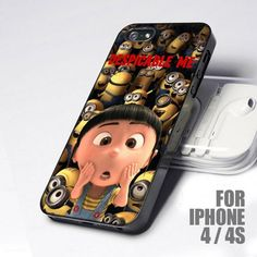 Cute Girl Despicable Me Minions design for iPhone 4 or 4s case... ✌✌✌✌✌✌❗❗❗❗❗❗❗ahhhhhhhhhhhh I need