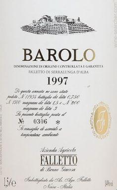 Falletto di Bruno Giacosa 'Falletto', Barolo DOCG, Italy label.-Serralunga d'Alba-CUNEO-PIEMONTE:il territorio del BAROLO- #Expo2015 #WonderfulExpo2015 #ExpoMilano2015 #Wonderfooditaly #slowfood #FrancescoBruno @frbrun www.blogtematico.it/ frbrun@tiscali.it