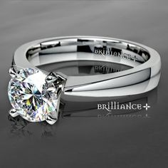 Split Shank Micropave Diamond engagement ring in White Gold... http://www.brilliance.com/engagement-rings/split-shank-micropave-diamond-ring-white-gold