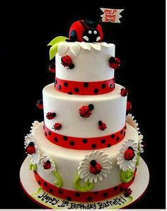 Cake - lady bug party theme absolutely adorable.  Too cute. www.facebook.com/LivinFearless