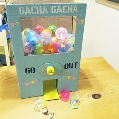 Diy And Crafts, Crafts For Kids, Arts And Crafts, Paper Crafts, Diy Gumball Machine, Spring School, Candy Dispenser, Diy Toys, Toddler Toys