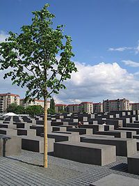 Holocaust Memorial -Berlin, Germany --- I did not know there was a memorial here