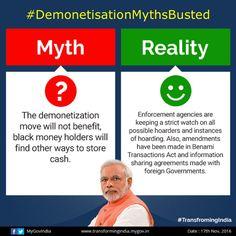 #DemonetizationMythsBusted #currencyban #BlackMoney