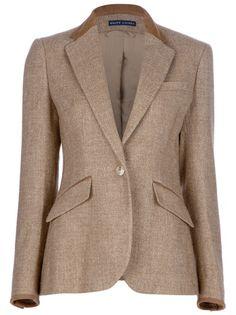 ralph lauren tweed blazer women | Ralph Lauren Blue Tweed Blazer - Spinnaker 101 - farfetch.com