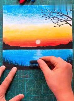 Art Drawings Beautiful, Art Drawings For Kids, Art Drawings Sketches Simple, Oil Pastel Drawings Easy, Oil Pastel Paintings, Flower Art Drawing, Soft Pastel Art, Art Painting Gallery, Beginner Painting