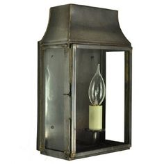 Strathmore Small Flush Outdoor Wall Lantern Light Antique Brass: Elegant clear glazed wall lantern, constructed of solid brass. This lamp will not rot Outdoor Wall Lantern, Outdoor Walls, Outdoor Lighting, Candle Lamp, Lamp Bulb, Gas Lanterns, French Walls, Light Fittings, Solid Brass