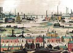 Industrial Landscape, 1950 by L S Lowry - art print from King & McGaw
