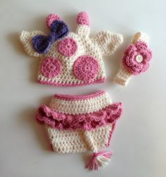 Crochet Giraffe Hat, Headband & Diaper Cover Set