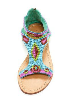 Rubra Sandal. Pretty beaded loveliness.
