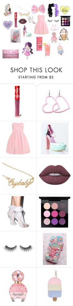 """""""Melanie Martinez inspired"""" by erikacliffordhood ❤ liked on Polyvore featuring Lime Crime, Carven, Iron Fist, Hot Topic, Leg Avenue, MAC Cosmetics, Huda Beauty, Marc Jacobs and claire's"""