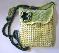 Small hand-knitted crochet bag,Hand-crocheted big purse with a long handle,Cross body hand-knitted bag for every day