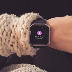 One of #FitbitFriend @pointsandpositivity's favorite things about her #FitbitBlaze is Reminders to Move, which nudges her to get up and clock some extra steps before the end of each hour. What do you love most about your tracker?