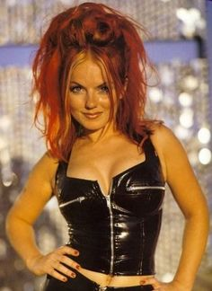 Ginger Spice - Geri Halliwell - I tried to dye my hair like this. NOT a good look for me.