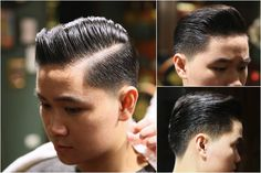 Slick Hairstyles, Slicked Back Hair, Asian Men, Triangles, Haircuts, Biscuits, Cream, Hair Styles, Crack Crackers