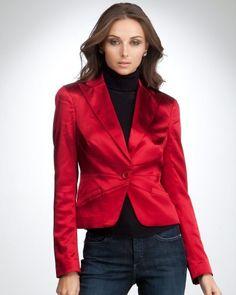 bebe Heavy Stretch Single Button Jacket