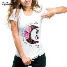 2019 Summer I Really Like Sleeping Print T Shirt Women Brand Tops Harajuku Tee Pink Shirt Funny Angel Casual Femme Black White Women's Clothing