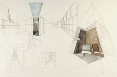 fabriciomora:  Thailand Unfolding House|ink and watercolor on paper