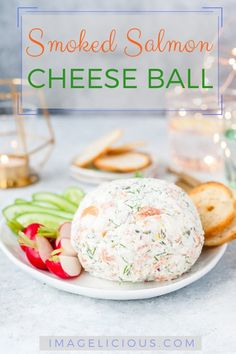 This Smoked Salmon Cheese Ball tastes like a smoked salmon sandwich but less expensive. Easy, festive, delicious, and affordable | imagelicious.com #smokedsalmon #cheeseball #entertaining #affordable