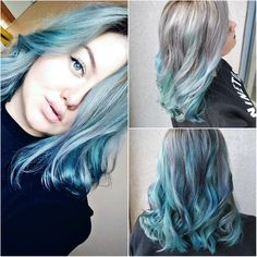 My perfect blue mermaid hair, colored with semi-permanent pulp riot colors