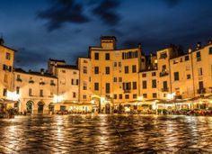 Luca. Tuscany, Italy This laid-back yet elegant town is surrounded by tree-bedecked, 16th-century ramparts along a promenade with 99 churches and cobblestoned streets,