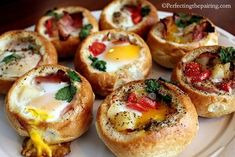 Breakfast Bread Bowls from Perfecting the Pairing | Featured in Gooseberry Patch Thanksgiving Leftovers
