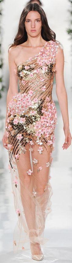 Fleur fashion / karen cox. Valentin Yudashkin ~ Spring Embellished Sheer Mini, 2015 by shmessa