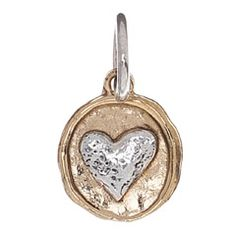 Waxing Poetic Charm Camp Heart WPM7507 - charms to add to bangle bracelet or charm bracelet