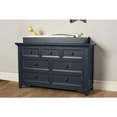 """Baby Cache Harbor 7 Drawer Dresser - Navy Mist - Baby Cache - Babies """"R"""" Us"""