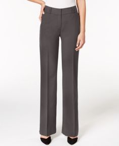 Alfani Petite Curvy-Fit Trousers, Created for Macy's - Gray 14PS