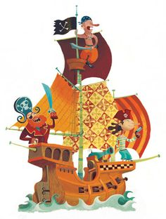 Pirate ship. Shapes