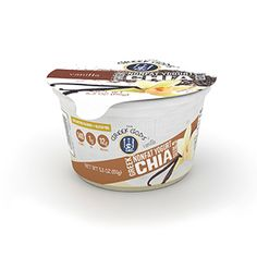 Vanilla Updated Chia_for website_use this Nonfat Greek Yogurt, Ben And Jerrys Ice Cream, Greek Gods, Chia Seeds, Vanilla, Website, Desserts, Food, Tailgate Desserts