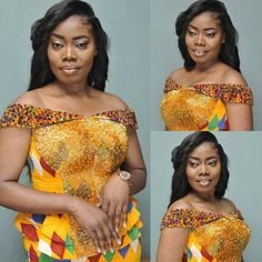 kitenge designs Latest Kente Fabric Styles For Fashionable Ladies - Loud In Naija Ghana Fashion, Africa Fashion, Latest Fashion, African Wedding Attire, African Attire, Fabric Styles, African Wear Dresses, African Outfits, African Clothes