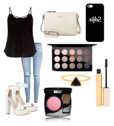 Night out by hellofashion22 on Polyvore featuring polyvore, fashion, style, H&M, Kate Spade, Casetify, MAC Cosmetics, Chanel and Stila