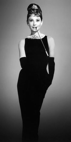 Audrey Hepburn in Breakfast at Tiffanys My all time favourite movie.... aside from mean girls ;)