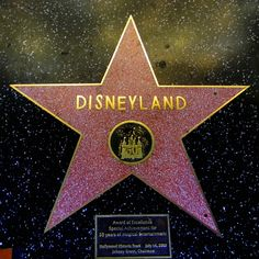 The Disneyland star on the Walk of Fame in Hollywood, California