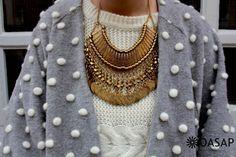 Vintage Ancient Coins Plated Necklace - OASAP.com