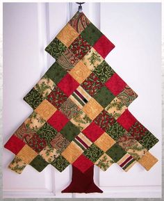 Piecing - I think I see possibilities here for a pretty lap quilt - snowy white background? Presents under the tree? - Piecing - I think I see possibilities here for a pretty lap quilt - snowy white background? Presents under the tree? Christmas Patchwork, Fabric Christmas Trees, Christmas Quilt Patterns, Christmas Tree Pattern, Christmas Stockings, Christmas Diy, Christmas Decorations, Christmas Quilting, Xmas Tree